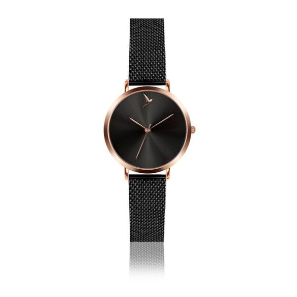 Zegarek damski z czarną bransoletką ze stali nierdzewnej Emily Westwood Black Mosaz
