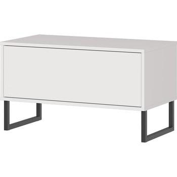 Bancă cu sertar Germania Madeo, lățime 75 cm, alb