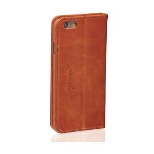 Koňakově hnědý kožený obal na iPhone 6/6S Packenger