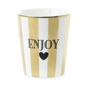 Cană ceramică Miss ÉtoileEnjoy Stripe Gold