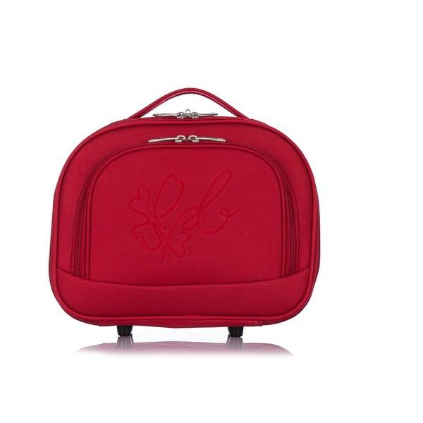 Červený kozmetický kufrík LPB Anna, 10,3 l
