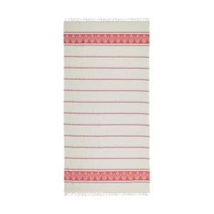Červenobéžová hammam osuška Deco Bianca Loincloth Hatice Pink, 80x170cm
