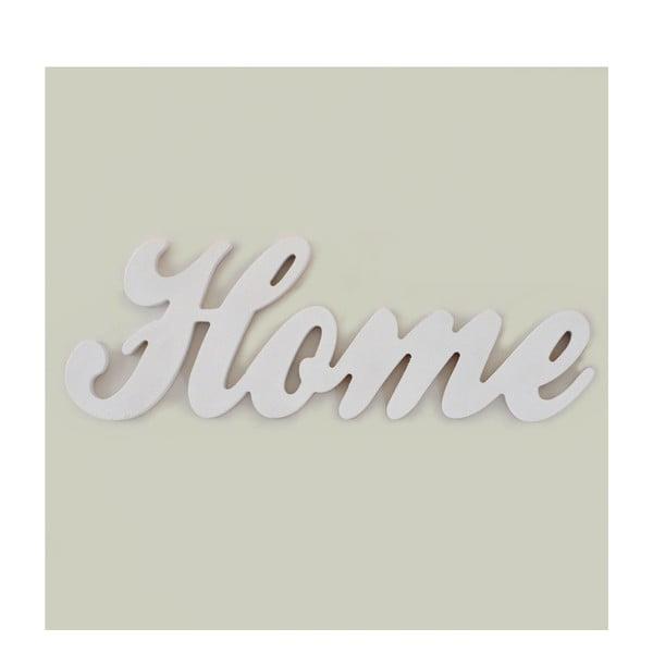 Dekorativní nápis Home, bílý