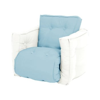 Fotoliu extensibil pentru copii Karup Design Mini Dice Blue/Creamy imagine