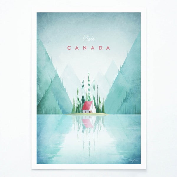 Plakát Travelposter Canada, A3