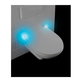 Capac WC LED Wenko Gubbio, 44 x 36,8 cm, alb imagine