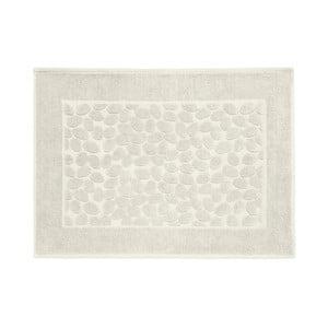 Šedobéžová bavlněná koupelnová předložka Maison Carezza Ciampino, 50 x 70 cm