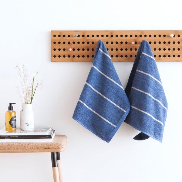 Sada 2 modrých froté ručníků Casa Di Bassi Camilla, 50 x 70 cm