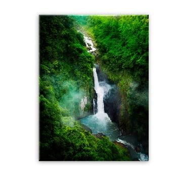 Tablou Styler Glas Views Waterfall, 70 x 100 cm imagine