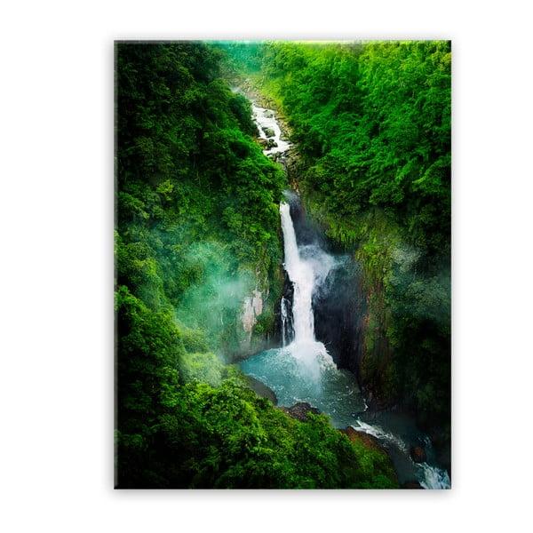 Glas Views Waterfall kép, 70 x 100 cm - Styler