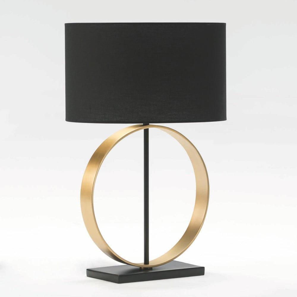 Stolní lampa bez stínídla z kovu zlaté barvy Thai Natura Circle