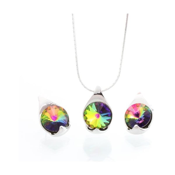 Set náhrdelníku a náušnic Laura Bruni Vitrail Medium