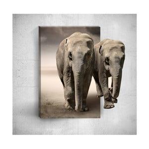 Nástěnný 3D obraz Mosticx Two Elephants, 40 x 60 cm