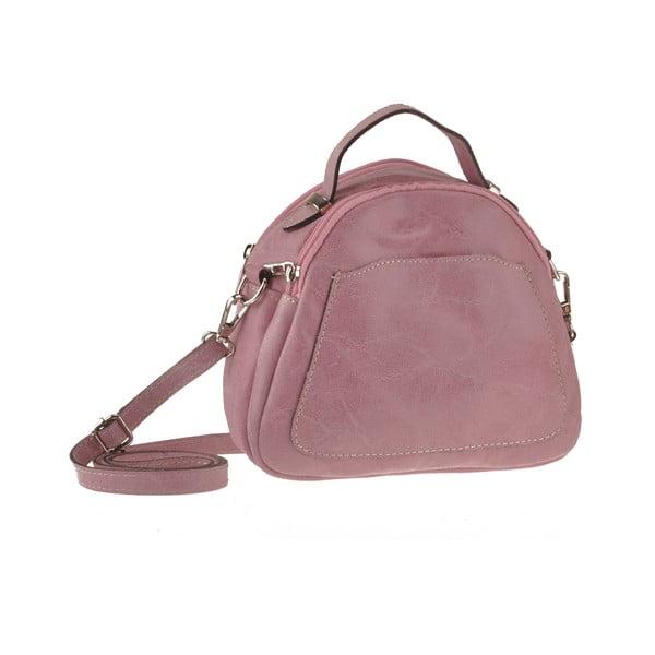 Pudrová kožená kabelka Men