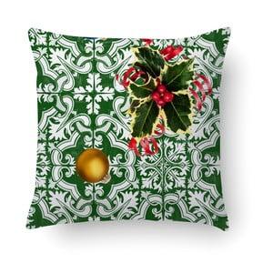 Zelený polštář Crido Consulting Festive Myrtle, 40 x 40 cm