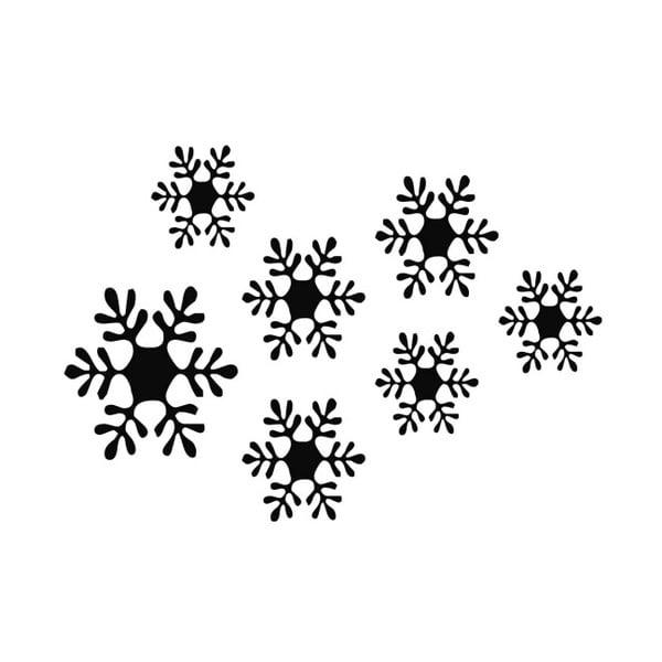 Samolepka na stěnu Snowflakes, 49x34 cm