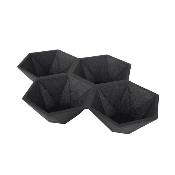 Černý podnos Zuiver Hexagon
