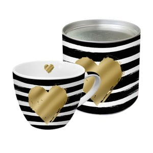 Porcelánový hrnek PPD Heart And Stripes, 450 ml