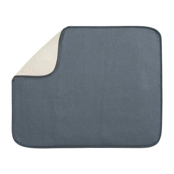 Šedá podložka na umyté nádobí InterDesign iDry, 46x41cm