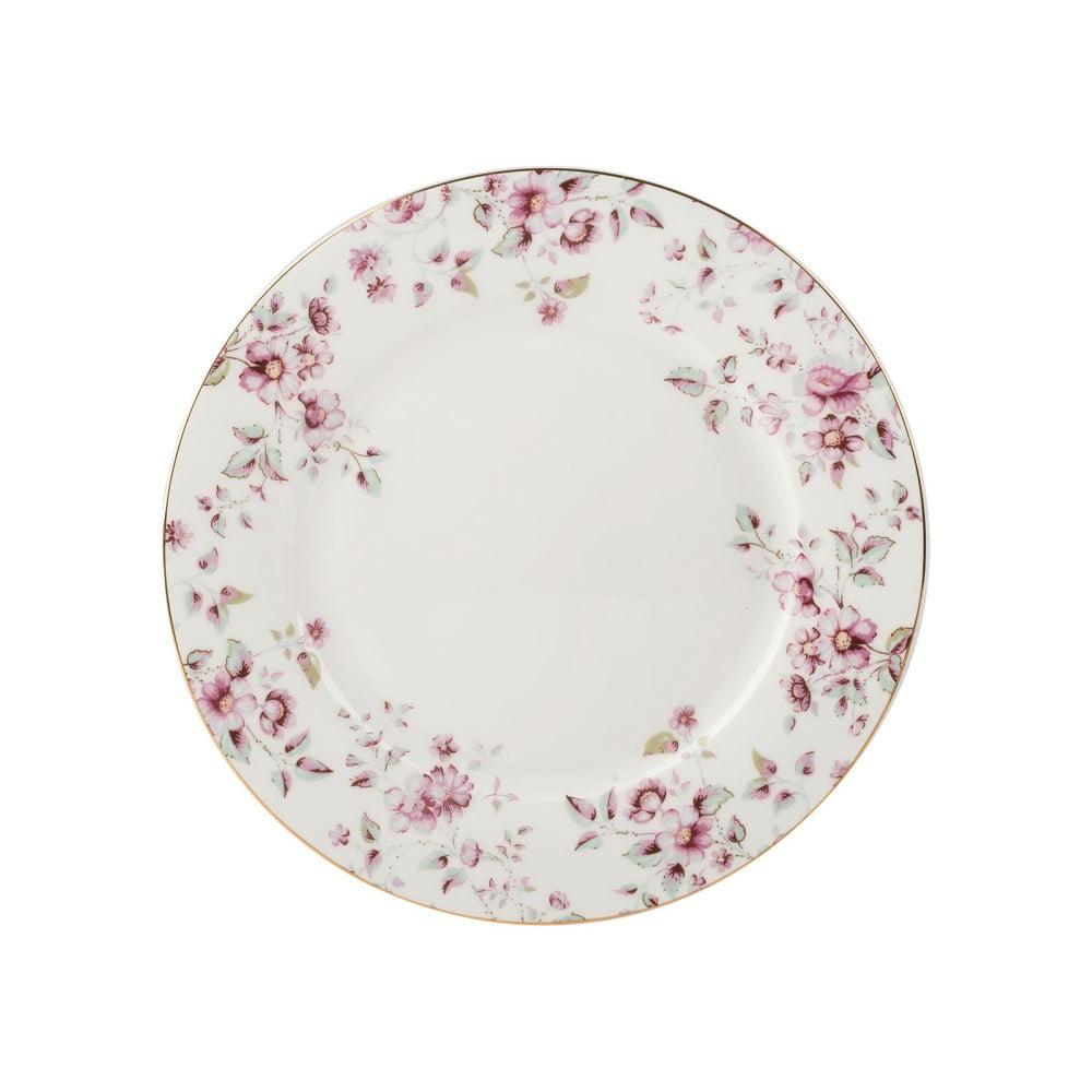 Bílý porcelánový talíř Creative Tops Ditsy,⌀26,5cm