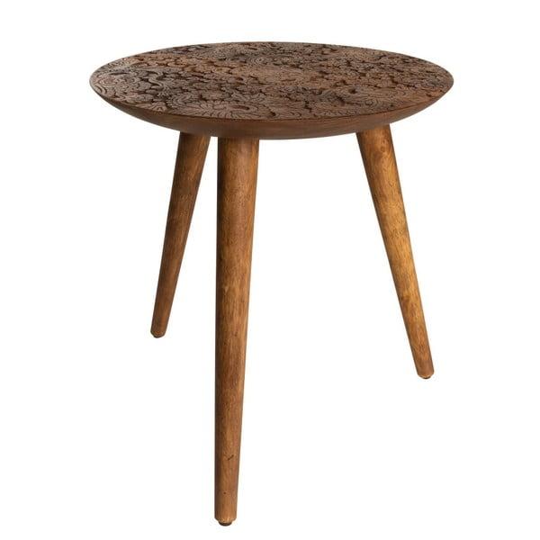 Odkladací stolík z dreva palisandra sheesham Dutchbone, ⌀ 40 cm