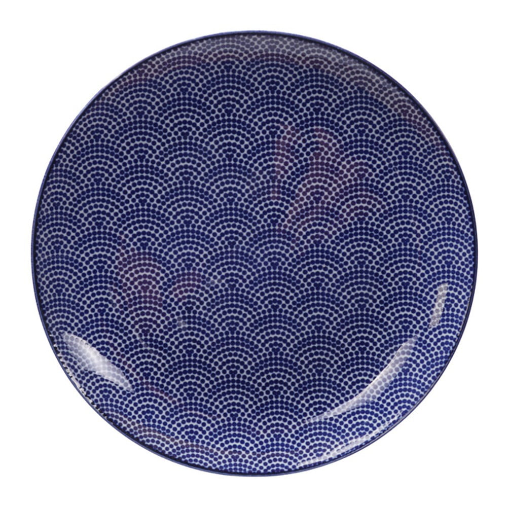 Modrý porcelánový talíř Tokyo Design Studio Dots, ø 25,7 cm Tokyo Design Studio