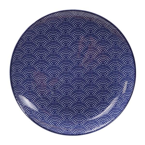 Modrý porcelánový talíř Tokyo Design Studio Dots, ø 25,7 cm