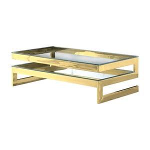 Konferenční stolek ve zlaté barvě Artelore Kassia