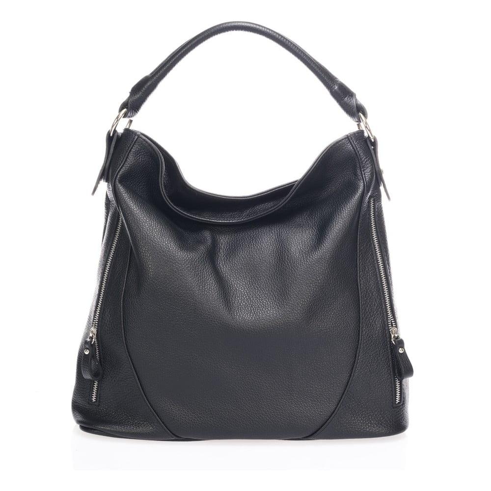Černá kožená kabelka Markese Savino