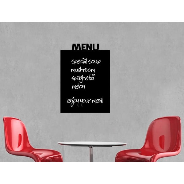 Nástěnná tabulová samolepka Menu