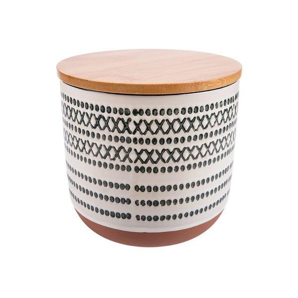 Virgo fehér-szürke kerámia doboz, magasság 11 cm - Vox