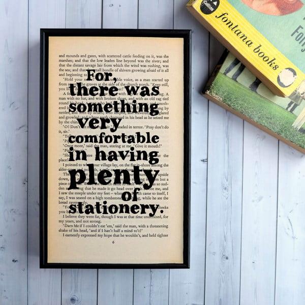 Plakát v dřevěném rámu Great Expectations Stationery