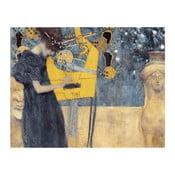 Reprodukce obrazu Gustav Klimt - Music, 90 x 70 cm