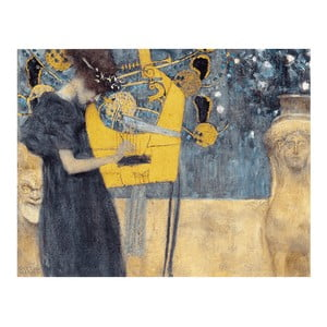 Reproducere tablou Gustav Klimt - Music, 70 x 55 cm