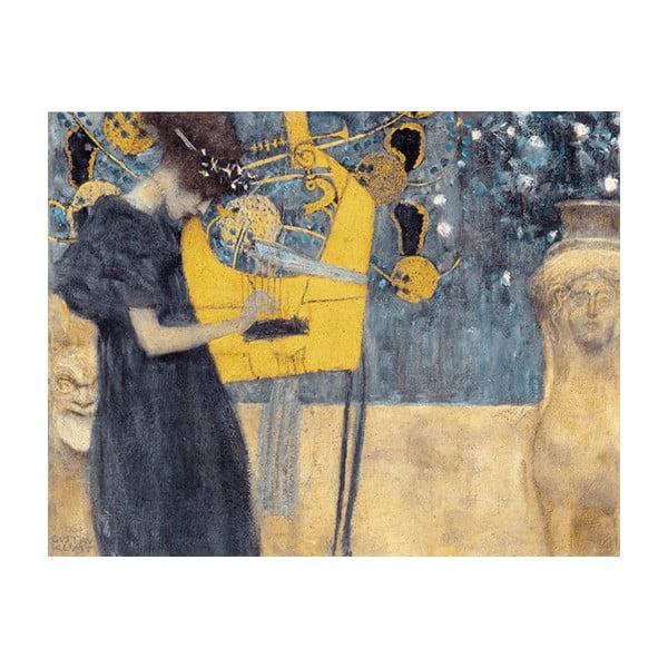 Reproducere pe pânză după Gustav Klimt - Music, 70 x 55 cm