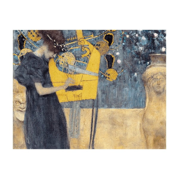Reprodukce obrazu Gustav Klimt - Music, 70 x 55 cm