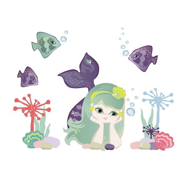Znovu snímatelná samolepka Small Mermaid