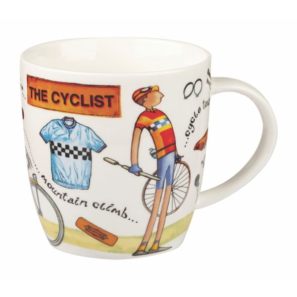 Hrnek z porcelánu Churchill China At Your Leisure The Cyclist, 400 ml