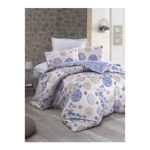 Lenjerie de pat cu cearșaf din bumbac Nerissa, 200 x 220 cm