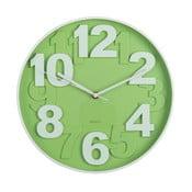 Zelené nástěnné hodiny Ixia