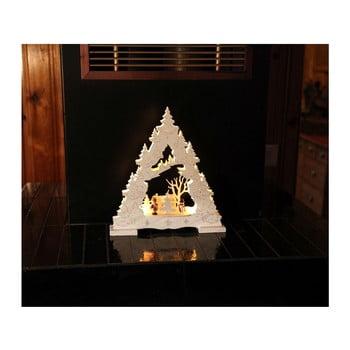 Decorațiune luminoasă cu LED Best Season Baumgarten, înălțime 27 cm, alb