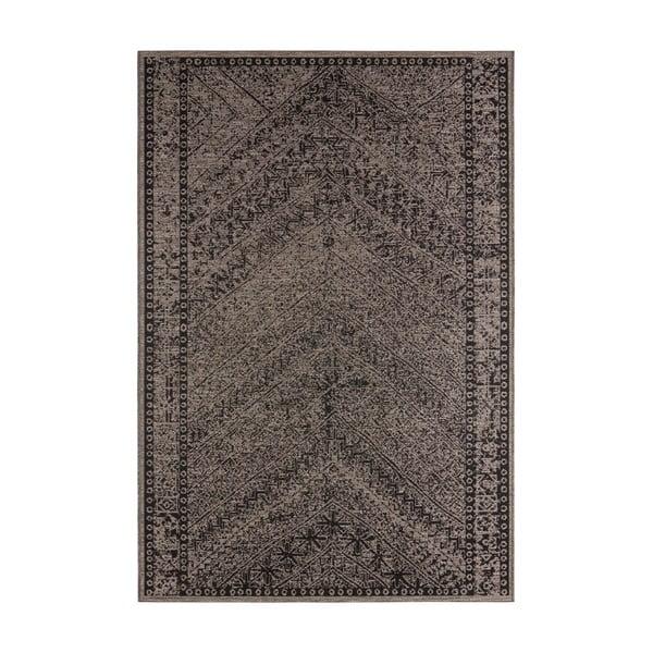Covor potrivit pentru exterior Bougari Mardin, 70 x 140 cm, maro - negru