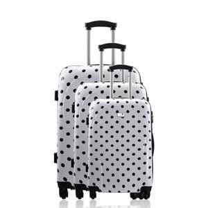 Sada 3 cestovních zavazadel Cadenas Black Dots
