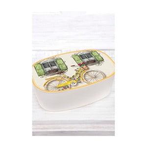 Melaminová dóza na chléb The Mia Bisiklet, 34 x 13 cm