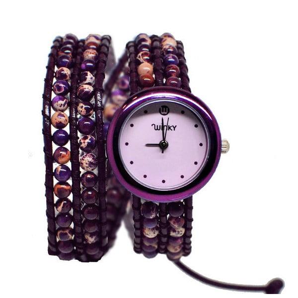 Korálkové hodinky Double, Purple Haze