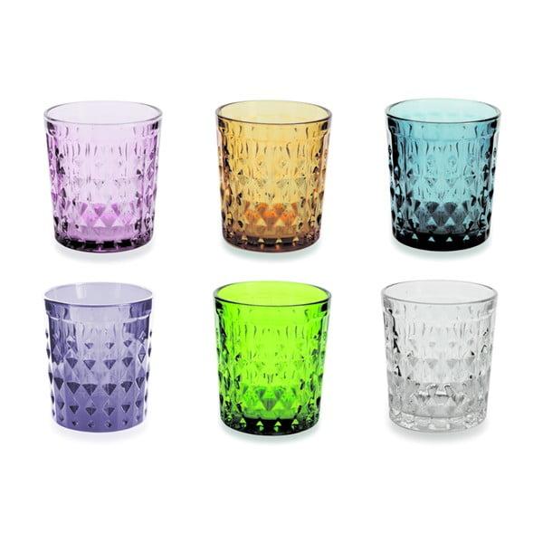 Sada 6 barevných sklenic Villa d'Este Fiji-Rio, 350 ml