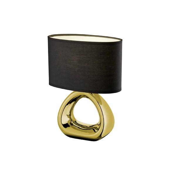 Stolní lampa v černo-zlaté barvě z keramiky a tkaniny Trio Gizeh,34,5cm