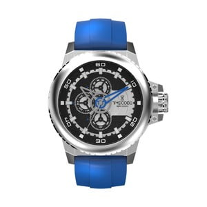 Pánské hodinky WWW 1991, Metallic/Blue