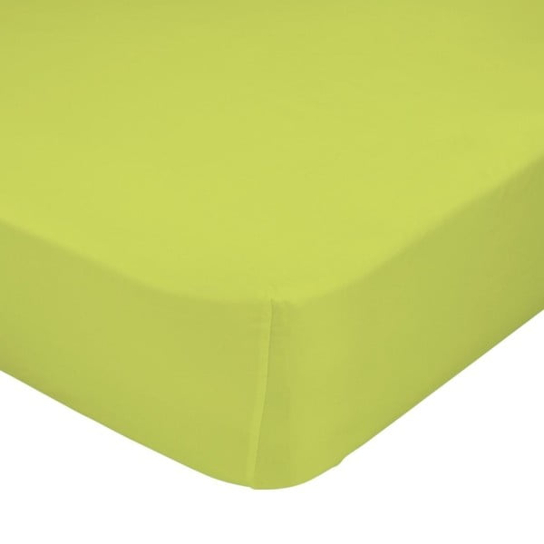 Zelené elastické prostěradlo HF Living Basic, 90x200cm