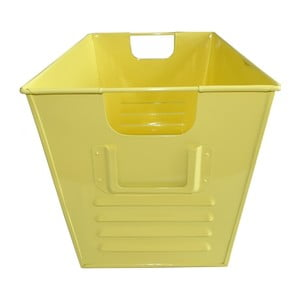 Plechový koš Waterquest 45x25 cm, pastelově žlutý